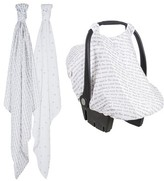 Bebe Au Lait Infant 2-Pack Muslin Swaddling Cloths & Car Seat Cover Set