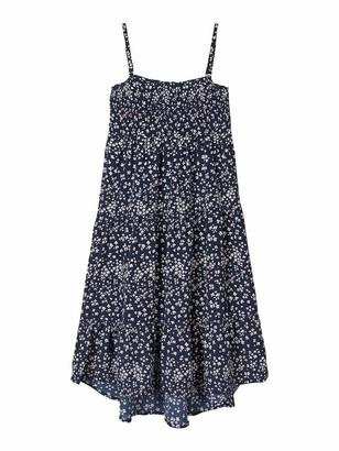 Name It Girl's Nkfvinaya Strap Maxi Dress Hh Playwear