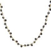 Ten Thousand Things Black Bead Necklace on Yellow Gold Chain