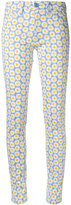 Love Moschino daisy print skinny trousers - women - Cotton/Spandex/Elastane - 26