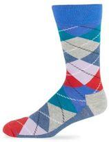 Happy Socks Cotton-Blend Argyle Socks