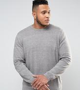 Asos PLUS Knitted Sweater In Khaki Twist