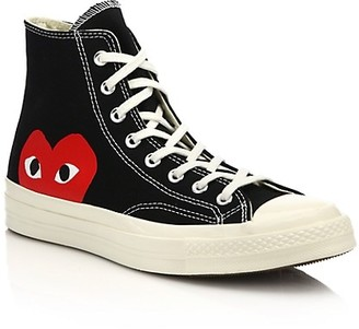 Comme des Garcons Peek-A-Boo High-Top Canvas Sneakers