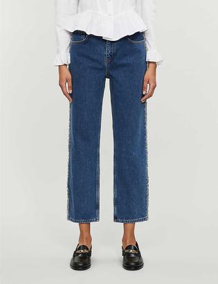 Claudie Pierlot Pepite straight leg high-rise jeans