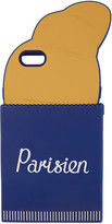 MAISON KITSUNÉ Navy and Orange parisien 3d Croissant Iphone 6 Case