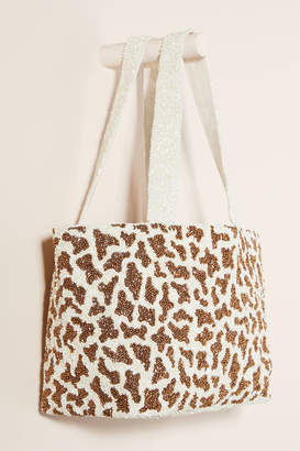 Moyna Beaded Giraffe Tote Bag