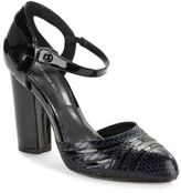 Saks Fifth Avenue Leather Ankle Strap Pumps