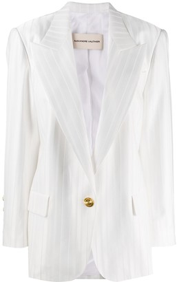 Alexandre Vauthier Striped Single-Breasted Blazer
