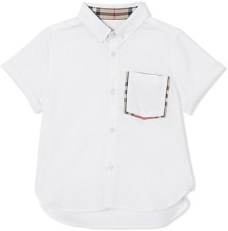 Burberry TEEN Vintage Check patch pocket shirt