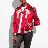 Coach Embroidered Varsity Souvenir Jacket