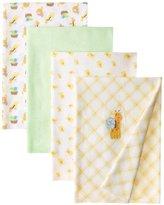 Carter's Watch the Wear Unisex-Baby Newborn 4 Pk Receiving Blankets Neuter