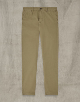 Belstaff OFFICER CHINO SLIM TROUSERS Brown