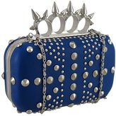 Zeckos Studded Hardshell Clutch Purse w/Spiked Knuckle Duster Handle