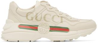 Gucci Off-White Rhyton Logo Sneakers