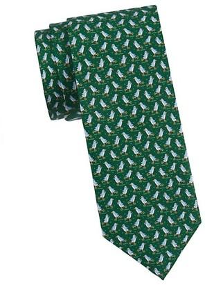 Salvatore Ferragamo Penguin-Print Silk Tie