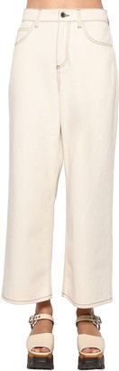 Marni Cotton Denim Wide Leg Jeans