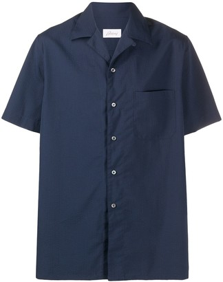 Brioni Short-Sleeve Fitted Shirt