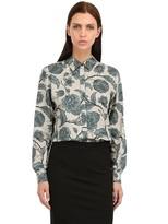 Burberry Victorian Flower Cotton Poplin Shirt