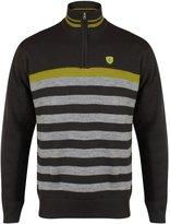 2017 Island Green Windproof 1/4 Zip Stripe Sweater Mens Golf Pullover-LINED