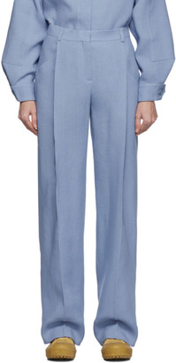 Jacquemus Blue Wool Le Pantalon Loya Trousers