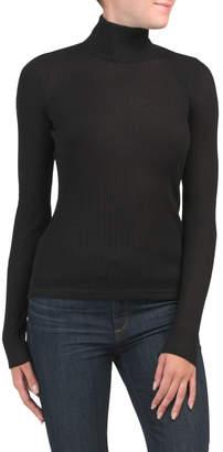 Ultra Fine Wide Rib Turtleneck Sweater