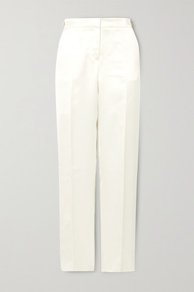 Gabriela Hearst Francisco Silk-satin Straight-leg Pants - Ivory