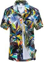 Ai.Moichien Men Plus Size Short Sleeve Surf Beach Shirt Casual Shirts Tops