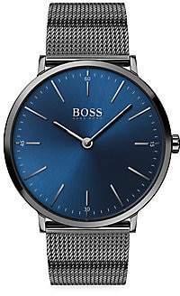 HUGO BOSS Men's Horizon Ionic-Plated Stainless Steel Bracelet Watch