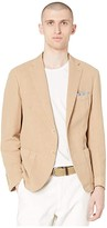 Eleventy Linen/Cotton Blend Soft Blazer (Khaki) Men's Clothing
