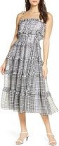 C/Meo Collective Stealing Chiffon Tiered Ruffle Gingham Sundress