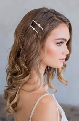 Brides & Hairpins Etta Set of 2 Crystal Hair Clips