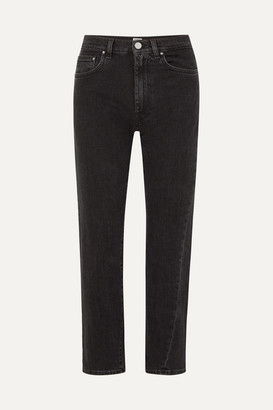 Totême Original High-rise Straight-leg Jeans - Black