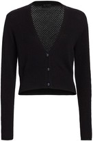 ATM Anthony Thomas Melillo Cropped Cashmere V-Neck Cardigan
