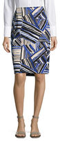 Kasper Suits Abstract Printed Pencil Skirt