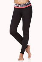 Forever 21 Perforated Floral Workout Leggings