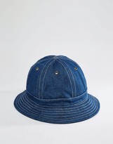 Asos Bucket Hat In Indigo Denim