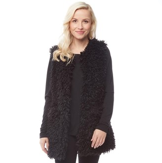 UGG Womens Farrah Faux Fur Vest Black