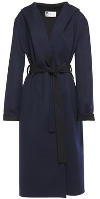 Lanvin Brushed Wool And Cashmere-blend Hooded Coat