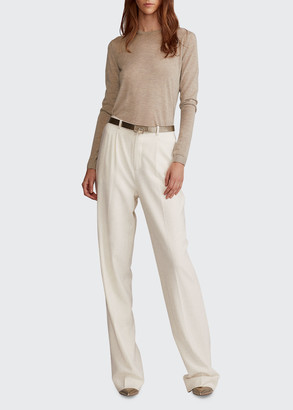 Ralph Lauren Collection Long-Sleeve Ribbed Cashmere Sweater