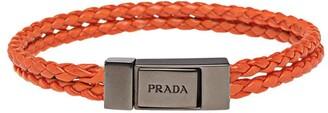 Prada braided logo bracelet