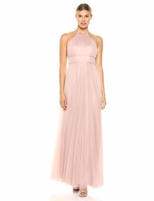Jenny Yoo Women's Helena High Neckline Tulle Long Gown