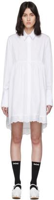 Simone Rocha White Poplin Frock Shirt