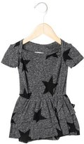 Nununu Girls' Star Print Peplum All-In-One