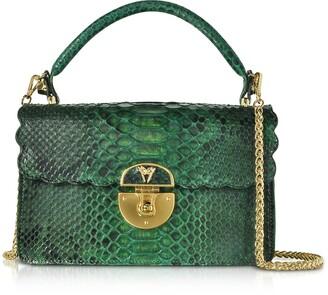 Ghibli Python Leather Top Handle Satchel bag