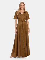 STAUD Millie Belted Maxi Dress
