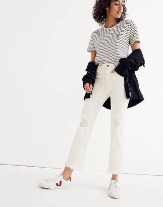 Madewell Tall Retro Crop Bootcut Jeans: Distressed Edition