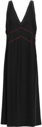 Rag & Bone Embroidered Silk-satin Midi Dress