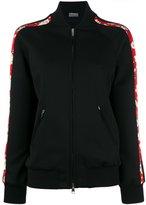 Alexander McQueen floral trim bomber jacket - women - Silk/Polyamide/Spandex/Elastane/Viscose - 40
