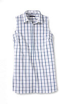 Classic Women's Petite Sleeveless No Iron Tunic Top-Warm Cinnabar Plaid