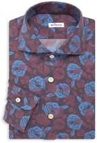 Kiton Contemporary-Fit Flower Print Dress Shirt